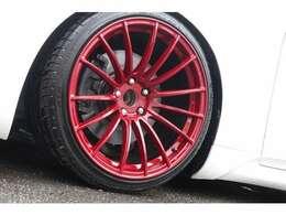ウェッズスポーツ19インチをオリジナル塗装しております!!タイヤは新品です!!