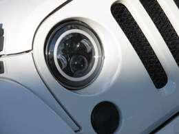 社外LEDヘッドライト装備!純正ヘッドライトございます。