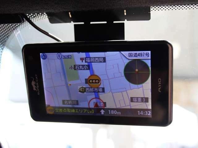 ユピテル製レーダー探知機を装備しております。