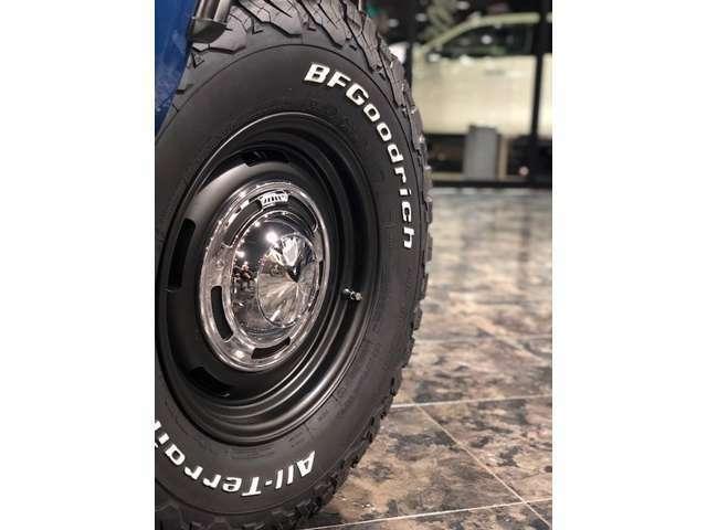 足元はDEANのクロスカントリー、ブラックタイプをチョイス!タイヤは定番のBFグッドリッチATタイヤ!