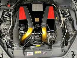 BRABUSチューニングエンジンルーム!SL550→BRABUS B50-520HP!速いです!