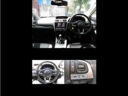 インパネ回り・ステアリング・ステアリングスイッチ(SI-DRIVE・走行モード選択できます。スポーツモード-インテリジェントモード)