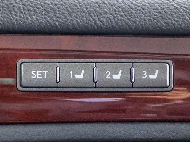 ★シートメモリー機能付き!運転手が変わっても、シートポジションが楽にセット出来ます!