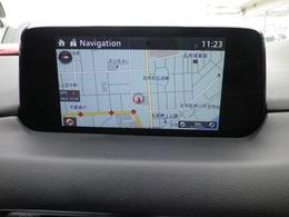 マツダコネクトナビゲーション搭載。タッチパネルと手元のコマンダーの両方で操作が可能なので、入力や操作も便利ですね!