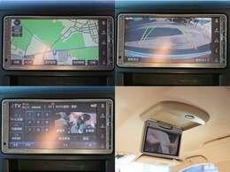 【地デジ視聴可能】【フリップダウンモニター装備】HDDナビ装備で地デジ視聴・DVD再生可能・音楽録音・Bluetooth接続等が可能です☆