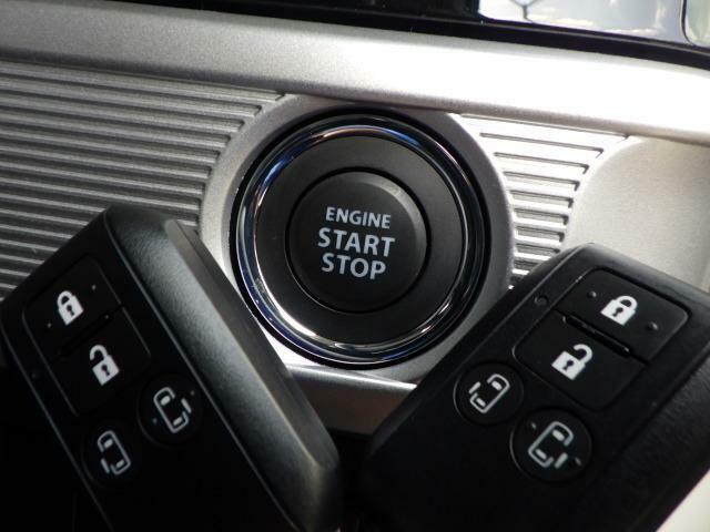 プッシュ式スタートでエンジン始動も楽です