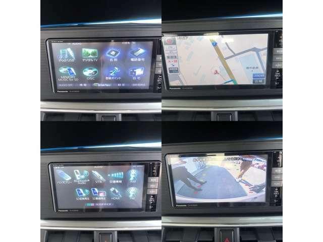 パナソニック ストラーダナビ!フルセグTV、DVD再生、Bluetooth対応の高性能ナビ!