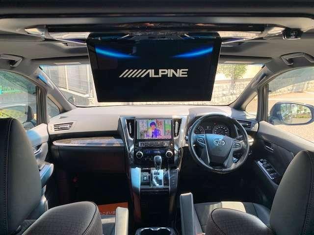 ワンオーナー車両、禁煙車、サンルーフ、アルパインデカナビ、後席フリップダウンモニター、フルセグ、Bluetoothオーディオ、ETC、ドライブレコーダー、両側パワースライドドア、パワーバックドア、