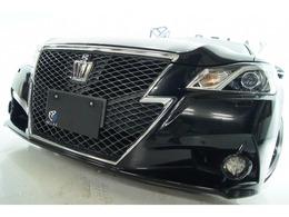 トヨタ クラウンアスリート 3.5 G 黒本革 新品アルミ新品タイヤ 新品車高調