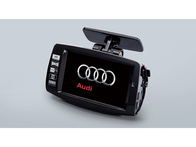 Bプラン画像:Audi専用デザインで、ハイビジョン画質のHDカメラや、自動録画モード、タッチパネル等、高性能、オールインワンのドライブレコーダーです。
