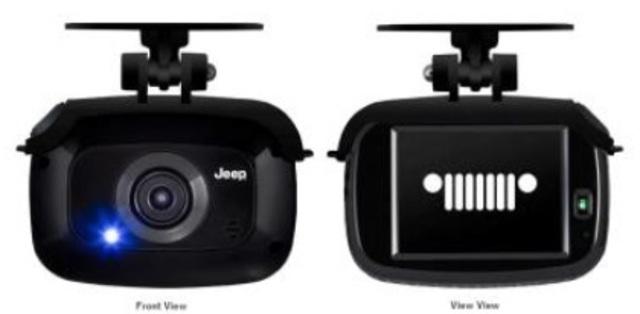Aプラン画像:Jeepロゴ入り純正ドライブレコーダー、フルHD(1920X1080)、GPS+みちびき、16GBmicroSDカード同梱。プラス29,160円でリヤカメラも追加できます