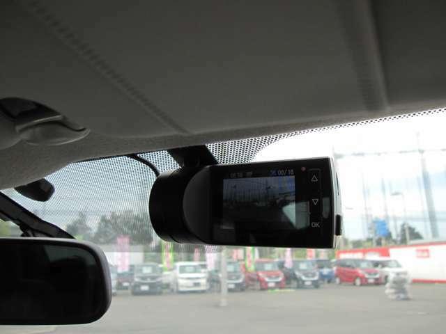 ドライブレコーダーが付いておりますので、万が一の事故の際に役立ちます。