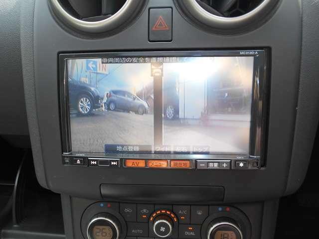 フロント&バックカメラ装備。  画像はメモリーナビに映ります。 メモリーナビはフルセグ・CD/DVD再生・Bluetooth接続等多機能なナビです。