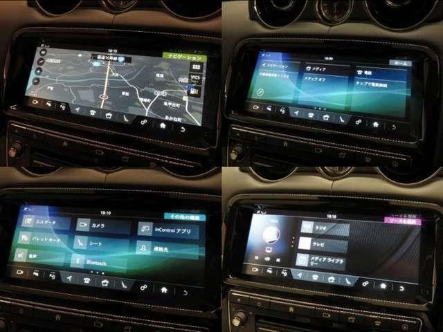 デジタルテレビ内蔵ナビゲーション。Bluetoothなどのメディアにも対応しております。またリアビューカメラも装備しておりますので、駐車時も安心です。
