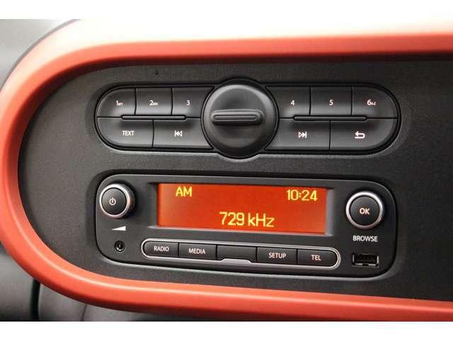 AM/FMラジオ対応です。