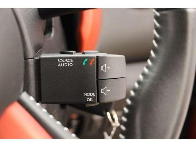 オーディオサテライトスイッチ装備です。こちらでオーディオの操作ができます。