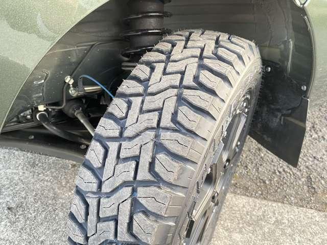 タイヤの溝もたっぷりです!
