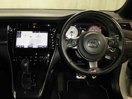 GR専用の内装、ステアリングホイールです。プリクラッシュセーフティ、レーダークルーズコントロールがついています。