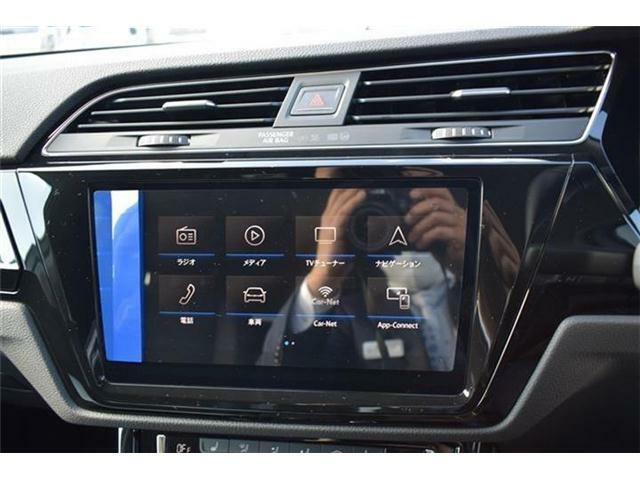 App-Connectはインフォテイメントシステムとスマートフォン間の通信機能です。Mirror Link、Apple Car Play、Android Autoに対応。対応するアプリをインフォテイメントシステムの画面で閲覧、操作できます。