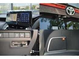 スマホ連携が可能な12.3インチのT-Connectナビが標準装備!対応のアプリを画面に表示・操作可能でLINEカーナビでは音声認識で目的地設定や、音楽再生も可能。バックカメラ・ラジオ・Bluetoothも標準装備です。
