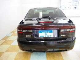 外装色はブラックマイカです。社外フロントバンパー TEIN車高調 フジツボマフラー装備しております。