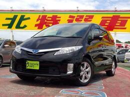 トヨタ エスティマハイブリッド 2.4 X 4WD 1オーナー12セグHDDナビB