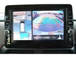 マルチアラウンドモニターを大画面に表示。
