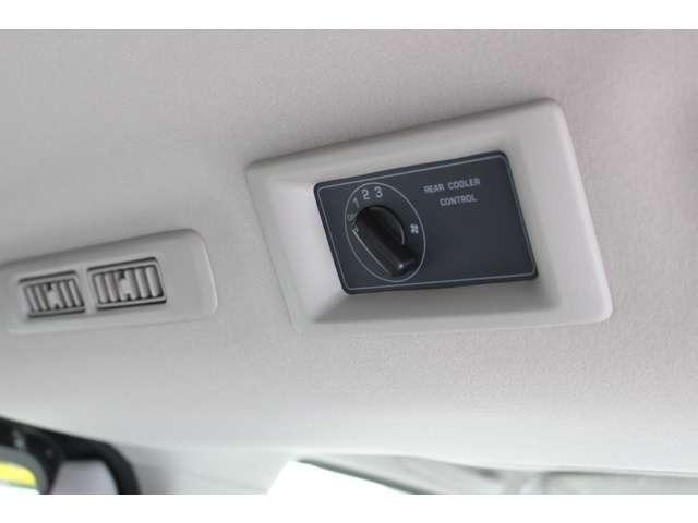 寒冷地仕様の為後部にもヒーターとクーラーが付いているので車中泊の際も安心ですね