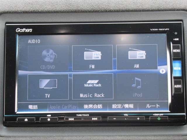 純正インターナビ付きでフルセグ・DVD再生・Bluetoothなど付いてとても便利な車両です♪