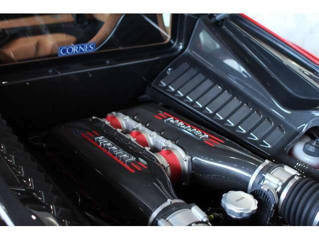 ■カーボンファイバーエンジンカバー