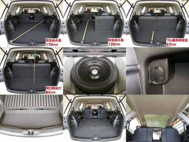 人も荷物もたっぷり積載 コンディションも良いですよ もしものスペアタイヤも安心ですね、最近はパンク修理キットが多いいですからね・・・