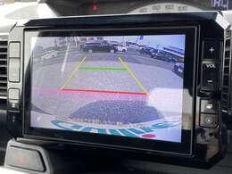 【バックガイドモニター】リバースギアで純正モニターに後方の画像が映し出されます。運転が苦手な方にもオススメの装備です!