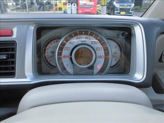 中央にスピードメーター 左にタコメーター装備します。