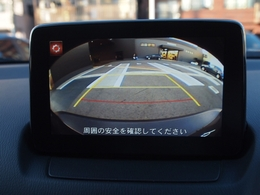バックカメラ付きで駐車時もしっかりサポート!