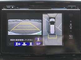 【全方位モニターモニター】駐車時に車両周辺や後方確認もできますので、大きな車の運転で不安な方も安心してお乗りいただけます♪