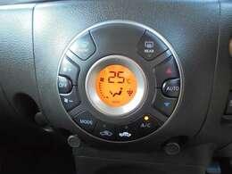 オートエアコンです。お好みの温度設定で一年中快適です。