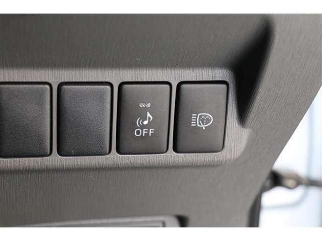 ■車両接近通報装置■発信から車速25km/hまでの走行または後退時に自動で発音、歩行者に音で接近を伝えます!スイッチ操作でオン・オフが可能です。
