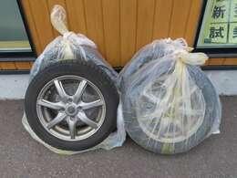 冬タイヤ&社外アルミも装備!別途準備の必要がないので、ご購入時の初期費用が軽減されますよ。