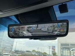 「デジタルインナーミラー」 リアカメラの映像をルームミラーに映します!後席や荷室に影響されず後方確認できます!