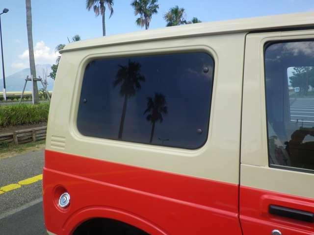オレンジ/クリームII塗装 2インチUP 社外バンパー 社外マフラー ジオランダーMT カリフォルニアミラー メッキグリル シートカバー ウッドステア 天上・ドアウッド張り 内装パネル塗装 ETC