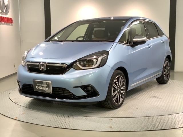 全国納車可!! 新車保証 禁煙試乗車 Hセンイング 純正ナビVXU-205FTI フルセグ Bluetooth DVD再生 Rカメラ ETC LEDヘッド スマートキー シートヒーター装備の青色のフィット リュクス入庫しました。