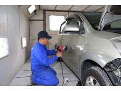 ★板金、塗装(色替え含む)は協立整備にお任せください!(^^)!専門スタッフが綺麗に仕上げます。