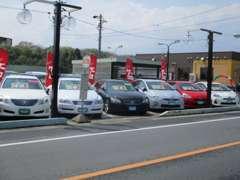 人気のハイブリッドカーやコンパクトカーなど車種多様のお車が展示されています。 もちろんミニバンも多数取り揃えております。