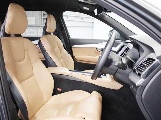 ファーストシートはパワーシートやシートヒーターなどフル装備です ボルボは人間工学に基づいたシート設計のため、長距離でも疲れ知らずです
