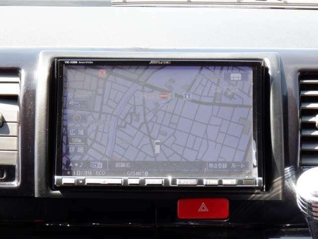 ALPINE8型HDDナビTV/DVD再生/Bカメラ/ETC/フリップダウンモニター/センターコンソール/16inAW/Fリップスポイラー/HIDヘッド/シートカバー/ウッドコンビハンドル