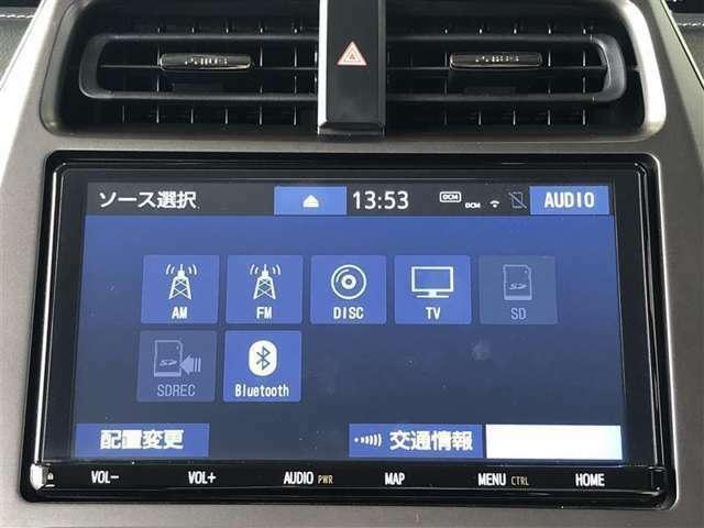 メディアプレイヤー接続可能!お好みのオ-ディオソ-スでお好きなBGMを聴きながらドライブを楽しんで下さい♪