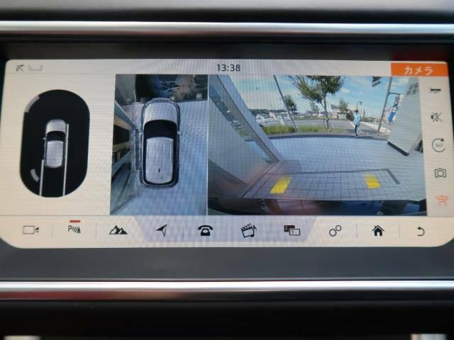 バックカメラは勿論、360°サラウンドカメラも装備。それぞれのカメラを単独もしくは2か所表示することも可能。縦列駐車や狭い場所や出入口なども安心できます!