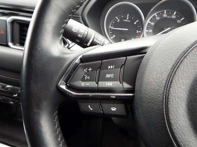 オーディオ機能はステアリングスイッチで簡単に操作が出来ます。