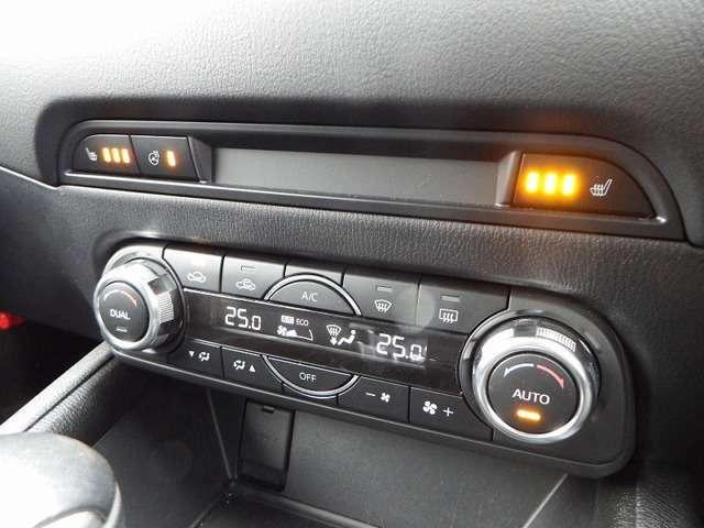 シートヒーターは3段階で調節可能でステアリングヒーターもついております