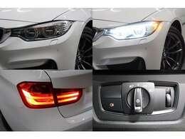 明るいLEDライトはステアリングの動きに反応しライトの角度を自動制御します。